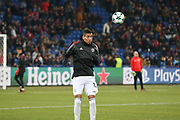 Manchester United Defender Chris Smalling in warm up during the Champions League match between FC Basel and Manchester United at St Jacob-Park, Basel, Switzerland on 22 November 2017. Photo by Phil Duncan.