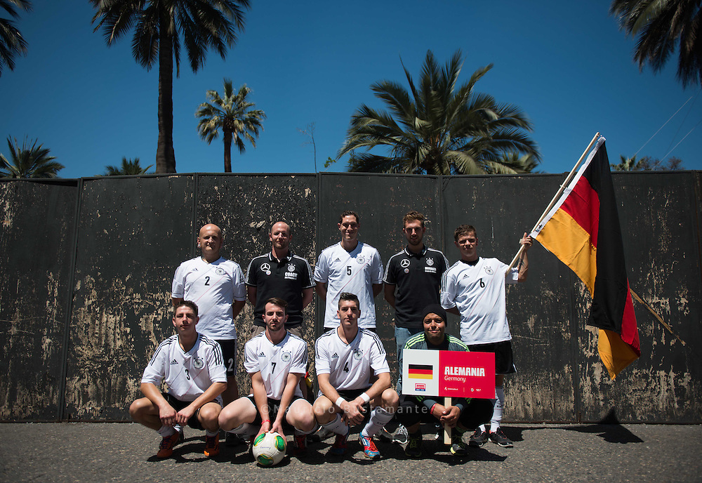 Homeless World Cup takes place at the plaza de la Ciudadania. The cup comprises socially marginalised players from across the globe.