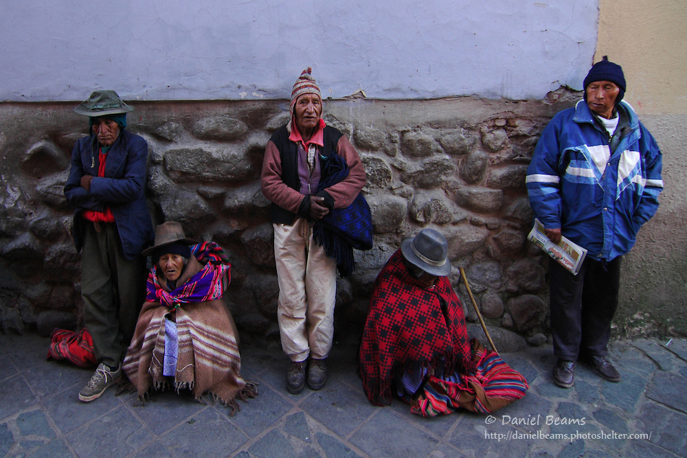 Waiting for the bus in Potosi, Bolivia