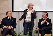 Milano 15 marzo 2010<br /> Basket Nazionale<br /> Conferenza stampa di presentazione dei programmi delle Nazionali<br /> Nella foto Dino Meneghin Simone Pianigiani Bruno Arena<br /> Foto ciamillo