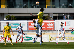 Shamar Amaro Nicholson of NK Domzale and Matic Marusko of NS Mura during Football match between NK Domzale and NS Mura in 30th Round of Prva liga Telekom Slovenije 2018/19, on May 1st, 2019, in Sports park Domzale, Slovenia. Photo by Grega Valancic / Sportida