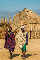 Arbore tribe village, Omo Valley, Ethiopia.