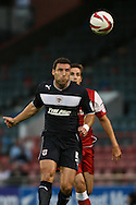 Picture by David Horn/Focus Images Ltd +44 7545 970036.21/08/2012.Jon Ashton during the npower League 1 match at the Matchroom Stadium, London.