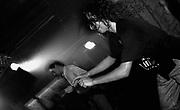 Clubbers dancing in the Thunderdome nightclub, Manchester. Jon da Silva dj'd that night. 1988