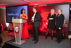 CARDIFF, WALES - Monday, October 6, 2014: TNS's Scott Ruscow at the FAW Footballer of the Year Awards 2014 held at the St. David's Hotel. (Pic by David Rawcliffe/Propaganda)