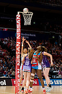 SYDNEY, AUSTRALIA - AUGUST 24: Helen Housby of the Swifts takes a shot during the round 14 Super Netball match between the Swifts and the Queensland Firebirds at Qudos Bank Arena on August 24, 2019 in Sydney, Australia.(Photo by Speed Media/Icon Sportswire)
