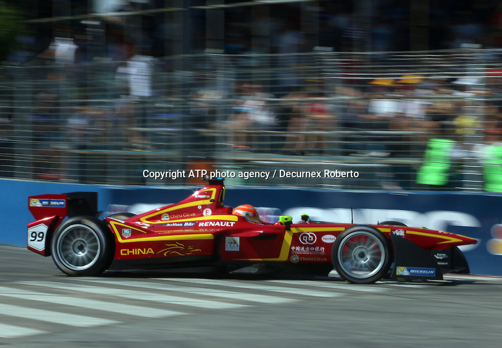 Nelson Piquet junior, (BRA), China Racing,<br /> Buenos Aires; January 10th 2015, E-Prix, FIA Formula E, <br /> fee liable image, copyright@ ATP Decurnex Roberto