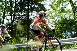 Karol-Ann Canuel (CAN) on the longest climb of the day during Stage 8 of 2019 Giro Rosa Iccrea, a 133.3 km road race from Vittorio Veneto to Maniago, Italy on July 12, 2019. Photo by Sean Robinson/velofocus.com