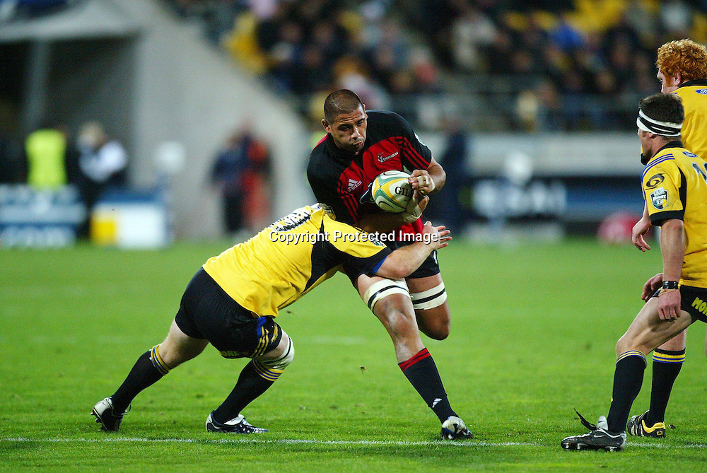 07 May 2004, Rugby Union. Super 12, Westpac Stadium, Wellington, New Zealand. <br /> Hurricanes vs Crusaders.<br /> Ross Filipo.<br /> The Hurricane's won the match 37 - 20.<br /> Please Credit: Photosport