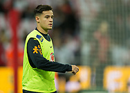 Philippe Coutinho of Brazil warms up before during the International Friendly match between England and Brazil at Wembley Stadium, London, England on 14 November 2017. Photo by Vince Mignott.