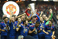 Wayne Rooney mit Pokal, Manchester Europa League Sieger 2017<br /> 2017Manchester Europa League Sieger 2017<br /> Stockholm, 24.05.2017, Fussball, Europa League, Finale 2017, Ajax Amsterdam - Manchester United 0:2<br /> norway only