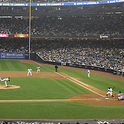 Curtis Granderson, New York Yankees, batting during the New York Yankees V Boston Red Sox Baseball game which the New York Yankees won14-2 to become American League East champions at Yankee Stadium, The Bronx, New York. 4th October 2012. Photo Tim Clayton