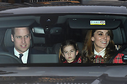 © Licensed to London News Pictures. 18/12/2019. London, UK.. Members of the Royal Family seen leaving Buckingham Palace in West London after attending the Queen's annual Christmas lunch. Photo credit: Ben Cawthra/LNP