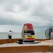 MARATHON, FL - SEPTEMBER 16: <br /> The Southernmost Point marker in Key West on September 16, 2017 in Marathon, Florida.  (Photo by Angel Valentin/Getty Images)