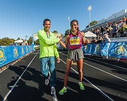 Boston Athletic Association Half Marathon, winners Lelisa Desisa, Mamitu Daska