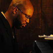 Renowned jazz pianist Orrin Evans performs at Chris' Jazz Cafe.