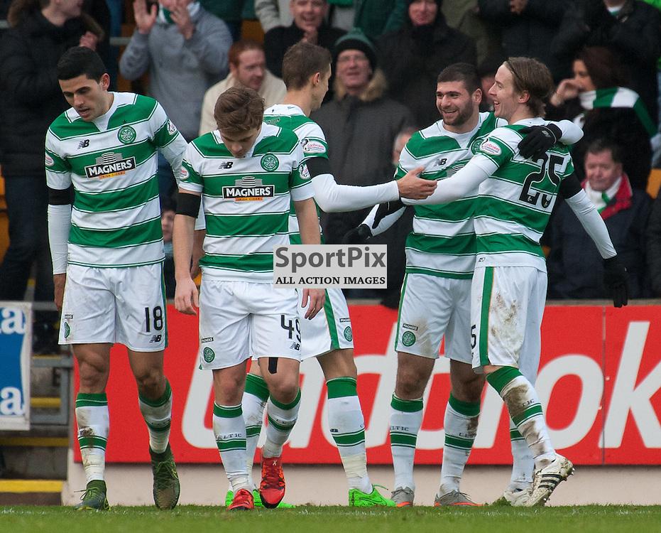 Celtic celebrations<br /> <br /> St Johnstone v Celtic &bull; Ladbrokes Premiership &bull; 13 December 2015<br /> <br /> &copy; Russel Hutcheson | SportPix.org.uk
