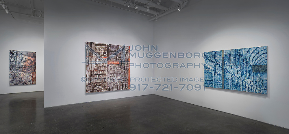 """Jorge Tacla : """"Sign of Abandonment"""" installation at Cristin Tierney gallery in Chelsea. Photograph by John Muggenborg."""