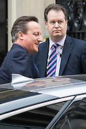 Prime Minister David Cameron leaves Downing Street to address the House of Commons following the resignation of Iain Duncan-Smith and the u-turn on further PIP cuts.<br /> Picture by Paul Davey/Focus Images Ltd +447966 016296<br /> 21/03/2016