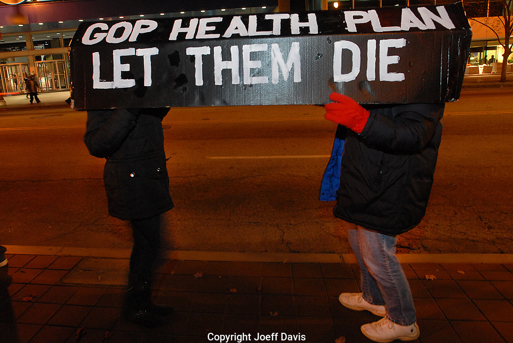 Health Care for America Now, MoveOn Political Action and Healthcare NOW sponsored a vigil in Centennial Olympic Park and march to the CNN Center Dec. 10 to urge Senator Isakson and Senate Majority Leader Harry Reid to pass health care reform with a public option.<br /> <br /> &quot;The healthcare system is broken,&quot; Dr. Minesh Shah, a doctor of internal medicine at Grady Hospital, said during the vigil. &quot;What motivates me is what I see every day, it's a moral outrage.&quot;<br /> <br /> According to Shah 45,000 people die a year from lack of health insurance making the lack of access to health insurance the 9th leading cause of death in the United States. According to MoveOn.Org 2,547 Americans go bankrupt every day from medical costs.