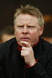 MANCHESTER, ENGLAND - Saturday, April 5, 2003: Liverpool's coach Sammy Lee against Manchester United during the Premiership match at Old Trafford. (Pic by David Rawcliffe/Propaganda)