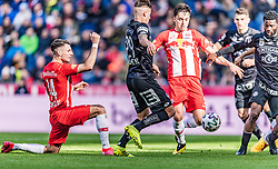 08.03.2020, Red Bull Arena, Salzburg, AUT, 1. FBL, FC Red Bull Salzburg vs SK Puntigamer Sturm Graz, 22. Runde, im Bild v.l. Dominik Szoboszlai (FC Red Bull Salzburg), Thorsten Roecher (SK Puntigamer Sturm Graz), Albert Vallci (FC Red Bull Salzburg) // during the tipico Bundesliga 22th round match between FC Red Bull Salzburg and SK Puntigamer Sturm Graz at the Red Bull Arena in Salzburg, Austria on 2020/03/08. EXPA Pictures © 2020, PhotoCredit: EXPA/ Stefan Adelsberger