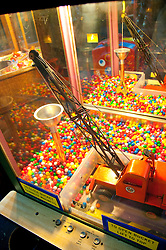 San Francisco: Musee Mechanique, coin operated mechanized arcade games, Pier 39, Fisherman's Wharf, Steam Shovel..  Photo copyright Lee Foster. Photo # casanf104183