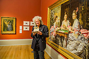 Poor man's picture gallery: Victorian Art and Stereoscopic Photography at the Tate Britain - a rare collection of Victorian stereographic photographs. Lent by Astronomer and Queen guitarist Dr Brian May (pictured - here with Hearts are Trumps by Michael Burr, based on th work by Millais, behind). This is the first display in a major British art gallery devoted to the nineteenth-century craze of three-dimensional photography. It is also accompanied by a book launch with viewer to see the 3-d images.