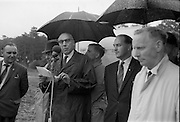 21/06/1965<br /> 06/21/1965<br /> 21 June 1965<br /> Cutting first sod for the Irish-Swiss Institute of Horology, Blanchardstown, Dublin. The institute, that was to hold courses in watch repairing,was due to an agreement between the Department of Education and the Swiss Watch Industry. Picture shows Mr. Julien Rosset, the Swiss Ambassador to Ireland, addressing the gathering at the ceremony.