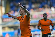 Wolverhampton Wanderers David Edwards scores tp put his tram ahead during the Sky Bet Championship match between Birmingham City and Wolverhampton Wanderers at St Andrews, Birmingham, England on 31 October 2015. Photo by Shane Healey.