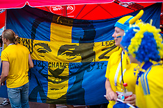 German and Swedish Fans in Moscow - 23 June 2018