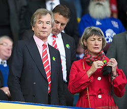 LIVERPOOL, ENGLAND - Sunday, October 17, 2010: Liverpool's Chairman Martin Broughton during the 214th Merseyside Derby match against Everton at Goodison Park. (Photo by David Rawcliffe/Propaganda)