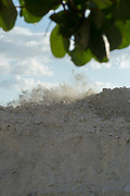 Redington Beach, Pinellas County,  Florida, USA., Tuesday, 16th October, 2018, Beach Replenishment, Sand Blasting through the filter, © Peter Spurrier,