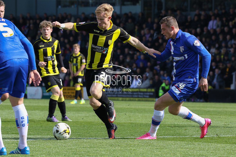 Burton Albion forward Mark Duffy attacks the midfield during the Sky Bet League 1 match between Burton Albion and Gillingham at the Pirelli Stadium, Burton upon Trent, England on 30 April 2016. Photo by Aaron  Lupton.