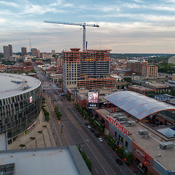 Two Light Tower construction underway in downtown Kansas City, Missouri. June 2017.