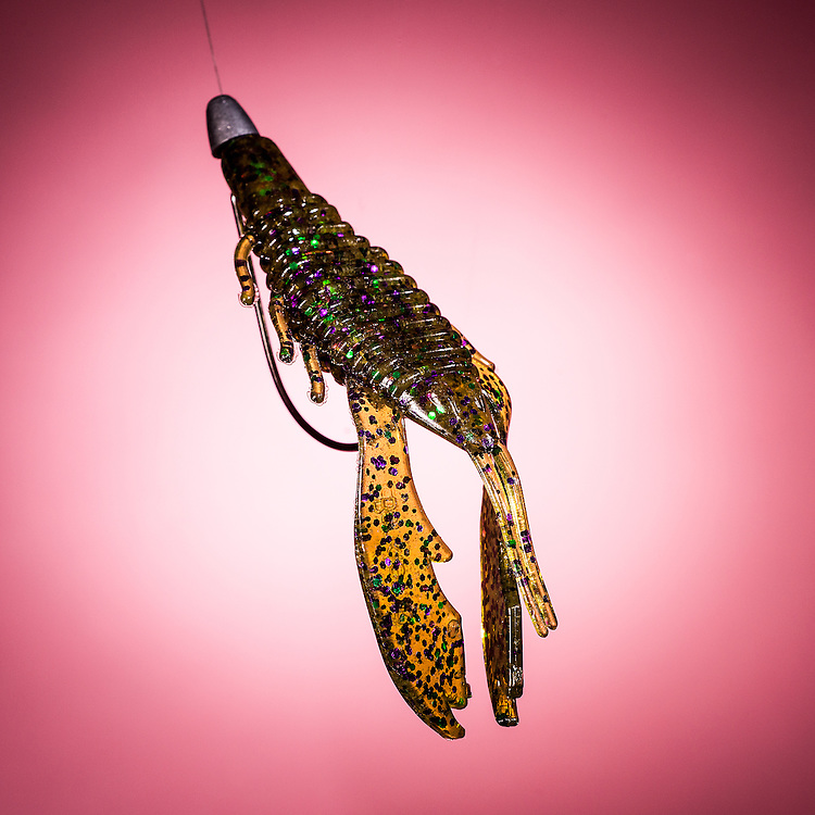 Studio Photographs of Fishing Lures