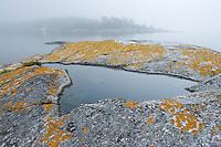 Foggy landscape in the Kanholmsfj&auml;rden.<br /> Stockholm Archipelago, Sweden
