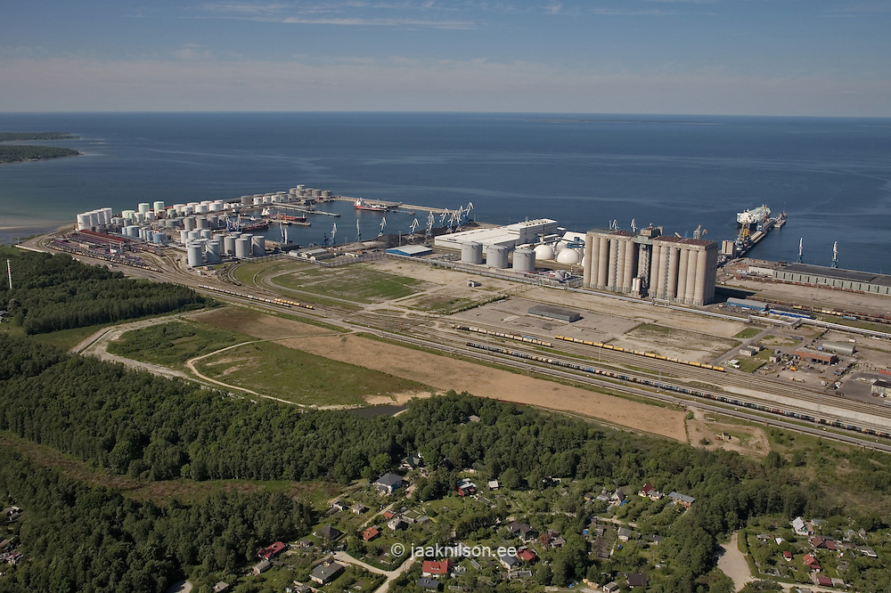 Aerial View of Tallinn Port at Muuga by Baltic Sea in Estonia