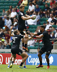 May 26, 2019 - Twickenham, England, United Kingdom - Scott Gregory of New Zealand .during The HSBC World Rugby Sevens Series 2019 London 7s Cup Quarter Final Match 30 between New Zealand and France at Twickenham on 26 May 2019. (Credit Image: © Action Foto Sport/NurPhoto via ZUMA Press)