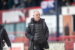 Inverness Caledonian Thistle's manager John Hughes at half time. <br /> Dundee 1 v 1 Inverness Caledonian Thistle, SPFL Ladbrokes Premiership game played at Dens Park, 27/2/2016.