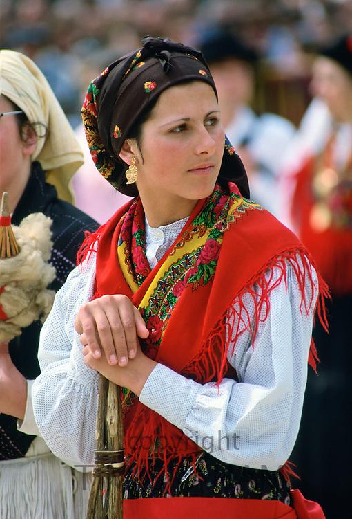 Woman wearing Folk Costume, Oporto, Portugal