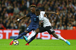 Tammy Abraham of England shoots under pressure from Antonio Rudiger of Germany - Mandatory by-line: Jason Brown/JMP - 10/11/2017 - FOOTBALL - Wembley Stadium - London, England - England v Germany - International Friendly