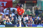 Ben Stokes ramp shot during the International T20 match between South Africa and England at Supersport Park, Centurion, South Africa on 16 February 2020.