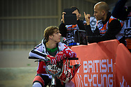 #48 (GRAF David) SUI at the 2014 UCI BMX Supercross World Cup in Manchester.