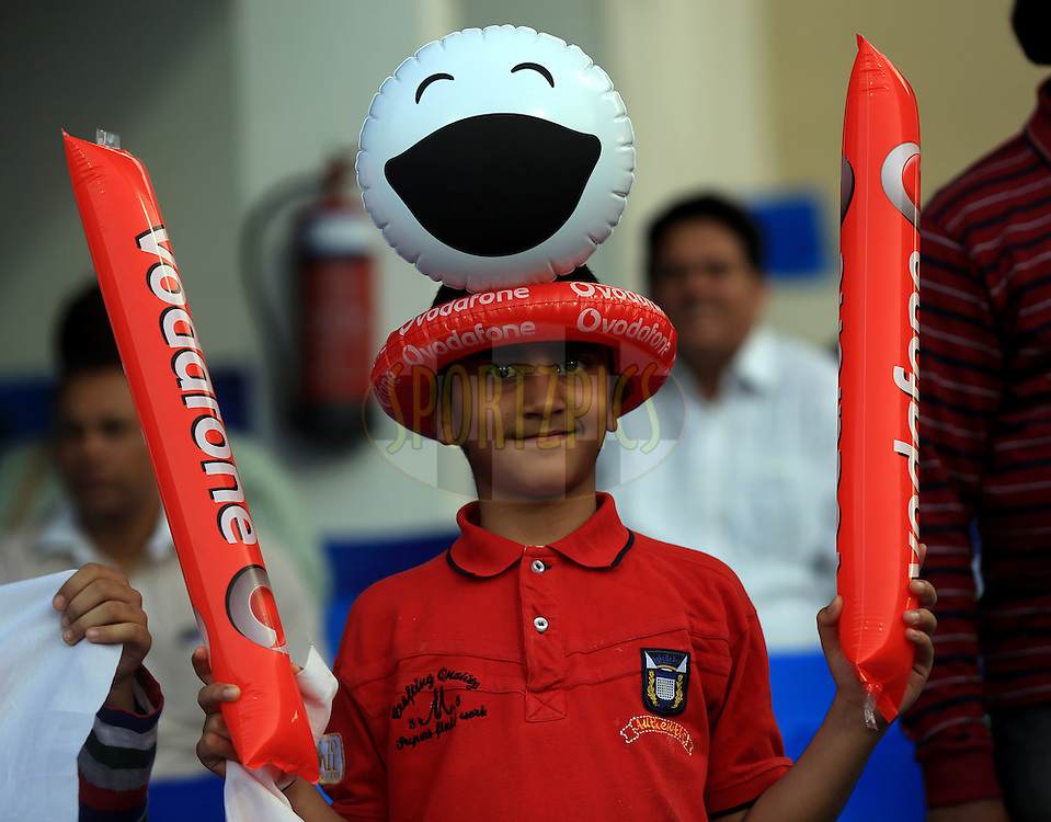 A Kid during match 9 of the Pepsi Indian Premier League 2014 between the The Kings XI Punjab and the Sunrisers Hyderabad held at the Sharjah Cricket Stadium, Sharjah, United Arab Emirates on the 22nd April 2014<br /> <br /> Photo by Sandeep Shetty / IPL / SPORTZPICS