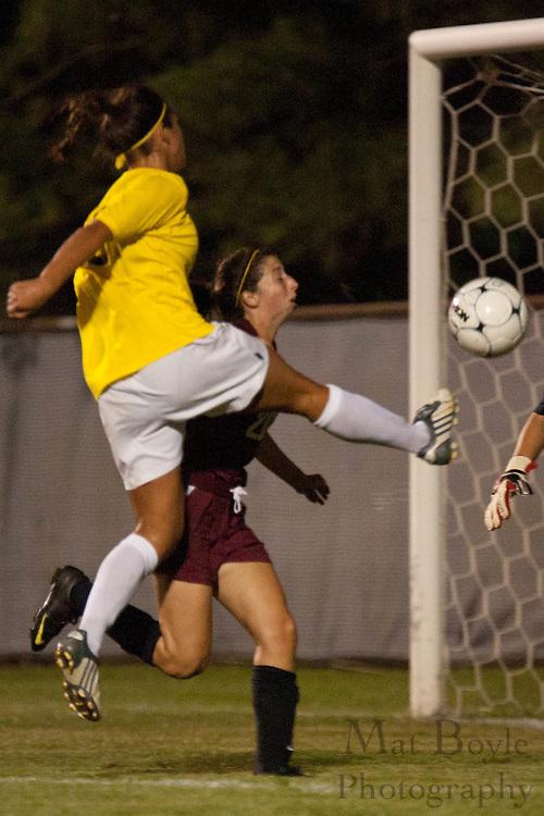 2010-09-01: Rowan University Womens Soccer defeats Arcadia University 4-0.