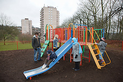 Families at playground.