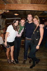 Left to right, GINA WASIKOWSKI, ROSS JONES, JOHN DODDS and LUCY CURRELL at 'Bodo's Schloss Goes Wild For Lewa' held at Bodo's Schloss, 2A Kensington High St, London W8 on 9th October 2013.