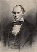 Elisha Mitchell (1793-1857) American naturalist and explorer.  Professor of chemistry, mineralogy and geology at the University of North Carolina.  In 1835 he established the height of Mt Mitchell, North Carolina. He fell to his death at nearby Mitchell Falls while verifying his earlier measurements. Engraving 1896.
