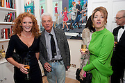 EMMA WILSON; NICKY HASLAM; PETRONELLA WYATT, Mrs. Richard Briggs at home.  Sloane Gardens. London. 20 October 2011. <br /> <br />  , -DO NOT ARCHIVE-© Copyright Photograph by Dafydd Jones. 248 Clapham Rd. London SW9 0PZ. Tel 0207 820 0771. www.dafjones.com.